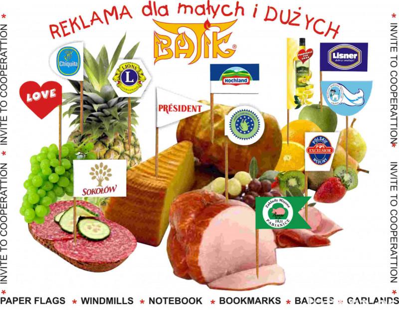 wykałaczki degustacyjne, reklamowe, pikery , flagietki 3