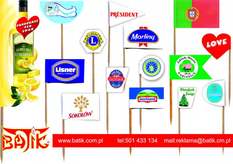 wykałaczki degustacyjne, reklamowe, pikery , flagietki 4